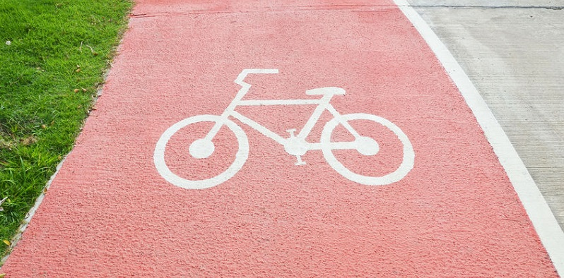 Bicycle Lane in Denver, Colorado